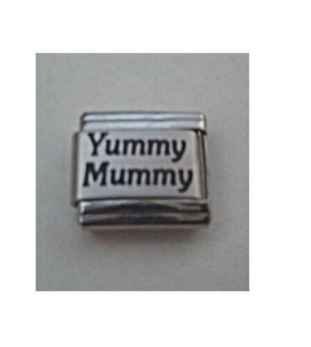 9mm Classic Size Italian Charm  L15  Yummy Mummy Fits Classic Size Bracelet
