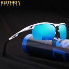 HD Aluminium Polarized Sunglasses Men Driving Fishing Sports Mirrored Eyewear