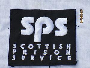 10x-Scottish-Prison-Service-Sps-Fabric-Badges-3-5-32x2-3-4in