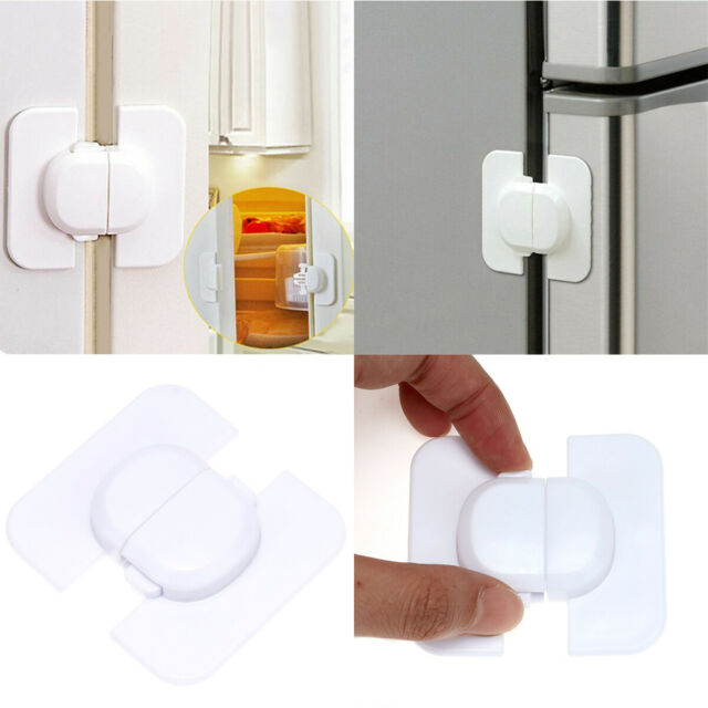 Kids Child Baby Safety Door Lock Proof Cupboard Fridge Cabinet Prevent Clamping
