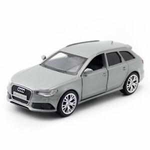 1-36-AUDI-RS-6-Avant-Carro-Coche-Modelo-Juguete-Diecast-Vehiculo-Ninos-Tire-Gris