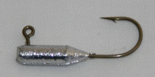 25 pk 1//32 oz Tube Insert Crappie Perch Bream Fishing Jigs Bronze Aberdeen Hooks