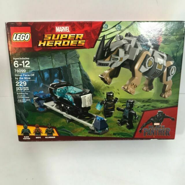 Lego Super Heroes Marvel Black Panther Rhino Face Off by The Mine 76099 NEW