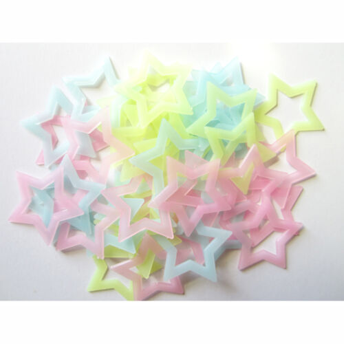 100PCS Wall Ceiling Glow In The Dark Stars Stickers Decal Baby Kids Bedroom Deco