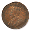 1917-1c-Canada-Large-One-Cent-Penny-KM-21-Bronze-Clipped thumbnail 1