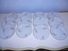 "12 ARLEN FINE CHINA Cathay Flora & Silver Trim 6 1/4"" Bread Plates 1476 Japan"
