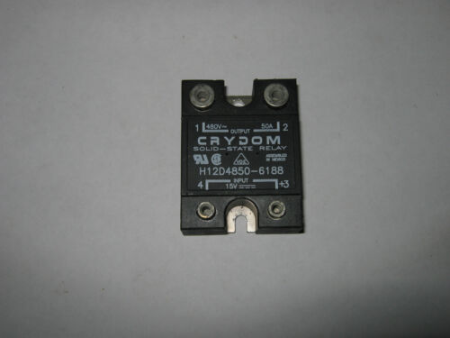 Crydom H12D Solid State Relay 480V,3-32VDC Control 50 Amp Used H12D4850-6188