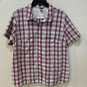 Eddie Bauer Plaid Vented Hiking/Fishing Shirt 2XL