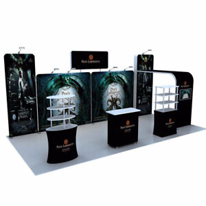 Details about 20ft portable custom trade show displays pop up stand banner  booth exhibits Sets