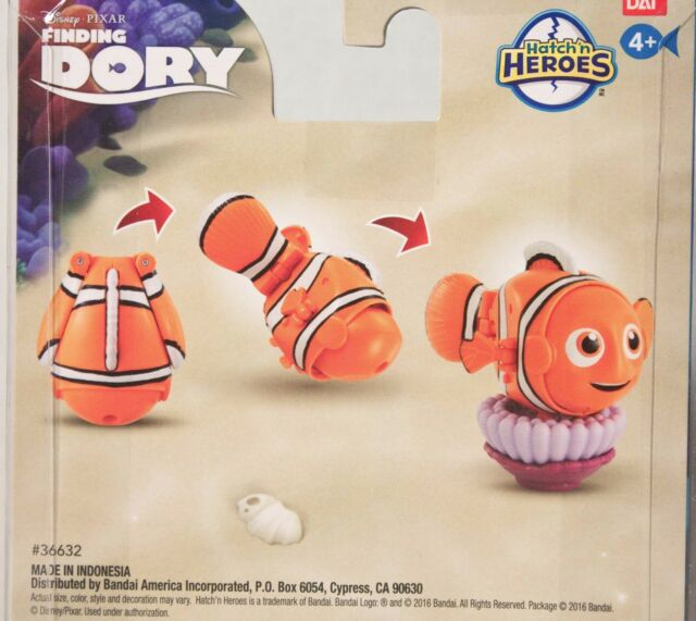 Hatch n Heroes Finding Dory Bailey Transforming Figure Bandai America Incorporated 36634