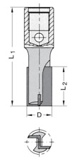 JSO Nutfräser Z2 HW M12x1 20x35mm