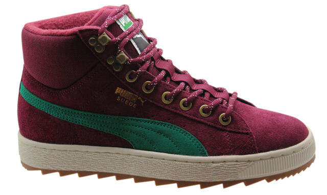 Puma Suede Classic + Rugged Boots Mens Shoes Leather Burgundy 357017 01 P3 8663097d0
