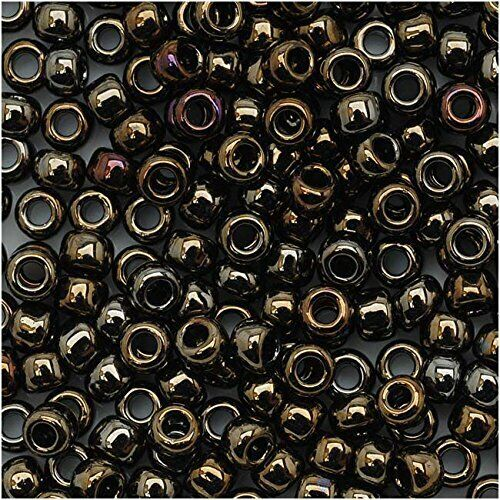 8//0 Round TOHO Japan Glass Seed Beads#83 Metallic Iris Brown 10 grams