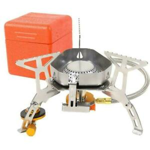 Gas Stove Burner Windproof Split Stove With Ignition Camping Stove Stove E2D1