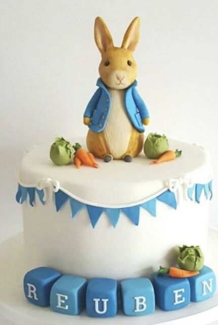 Handcrafted Edible Sugar Bunny Rabbit Birthday/christening ...