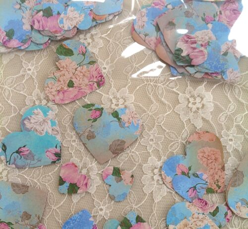 vintage shabby chic old rose table confetti turquoise blue or latte