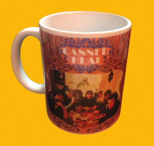 CANNED HEAT SELF TITLED DEBUT ALBUM 1966-ALBUM COVER ON A MUG.
