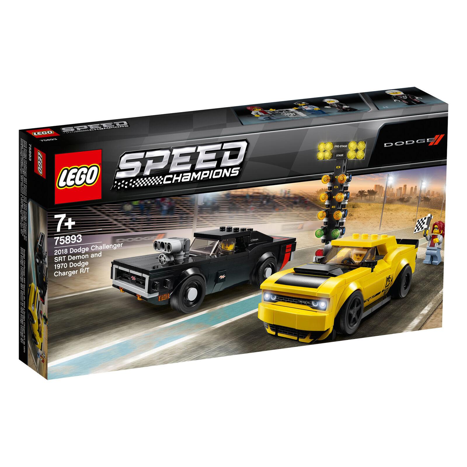 75893 LEGO Speed Speed Speed Champions 2018 Dodge Challenger SRT Demon & 1970 Dodge Charger 0bb381