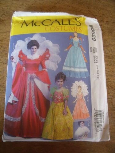 "PATRON  /""McCALL/'S COSTUMES ROBE REINE ET PRINCESSE ENFANT TAILLE 3-4//5-6//7-8"