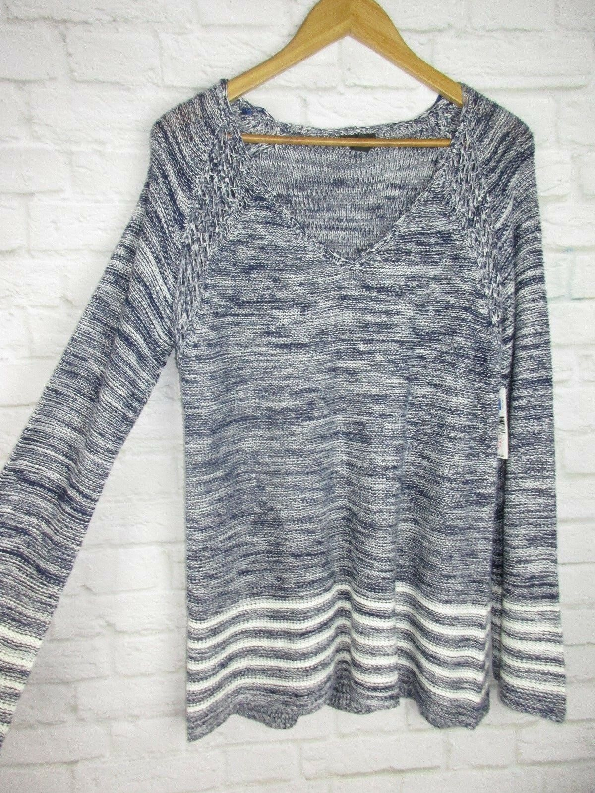New Directions women's size XL bluee Knit Spring Long Sleeve Sweater NEW