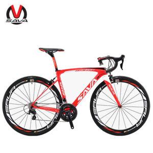 SAVA-HERD-New-6-0-700C-Carbon-Fiber-Road-Bike-Shimano-5800-22-Speed-Red-White