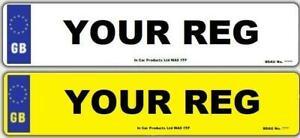 Pair-Standard-GB-MOT-UK-Road-Legal-Car-Reg-Registration-Number-Plates
