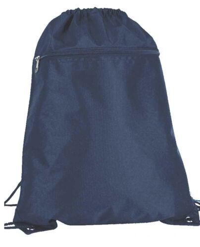 Drawstring Unisex Backpack Tote Sock Sack Pack Nylon Bag Dual Light Multi Colors