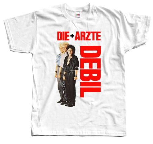 Die Ärzte * debil Blanc T Shirt 100/% Coton Toutes Tailles S-5XL