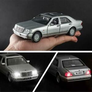 1-32-Mercedes-Benz-S-W140-Alloy-Model-Car-sound-light-Pull-back-Toy-Car
