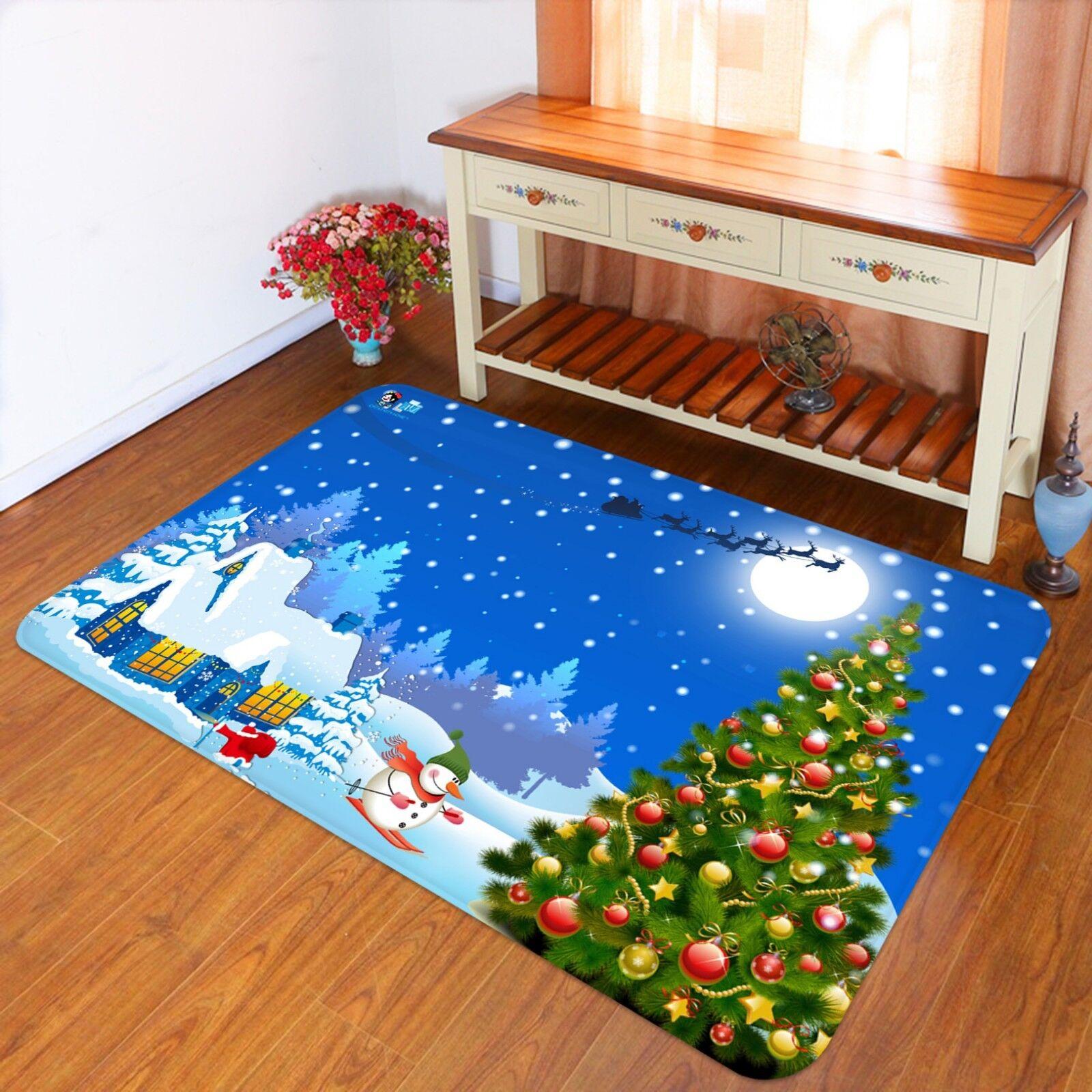 3d Natale Xmas 70 antiscivolo tappeto tappetino bagagliaio tappeto elegante de