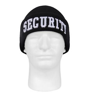 34296c2c6 Details about Black Embroidered SECURITY Beanie Watch Cap Deluxe Acrylic  Rothco 5342