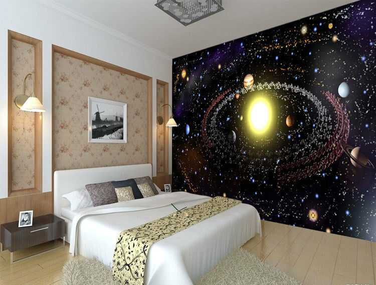 Solar System Planets Space Full Wall Mural Photo Wallpaper Print Home 3D Decal