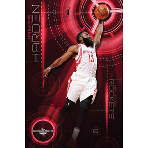 Houston Rockets - James Harden POSTER 57x86cm NEW * Basketball NBA Sports Player