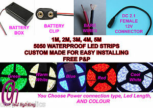 CUSTOM MADE 5050 LED STRIPS MADE TO ORDER FOR EASY INSTALLING BY THE METER