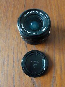 Superbe Objectif CANON FD 24 MM 1: 2.8 Vintage CANON Lens FD 24 MM 1: 2.8