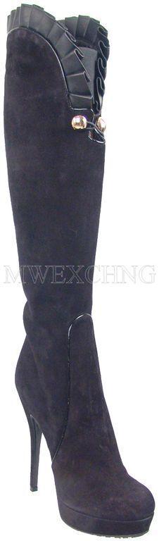 Loriazul Stiletto Plataformas botas Tacones Zapatos Altos EU 38 Diseñador Italiano Zapatos Tacones para mujer 8a2515