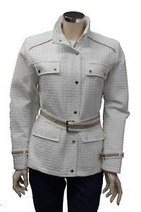 Caricamento dell immagine in corso Cappotto-corto-da-donna-bianco-Feyem- giacca-tasche- 16bb261a422