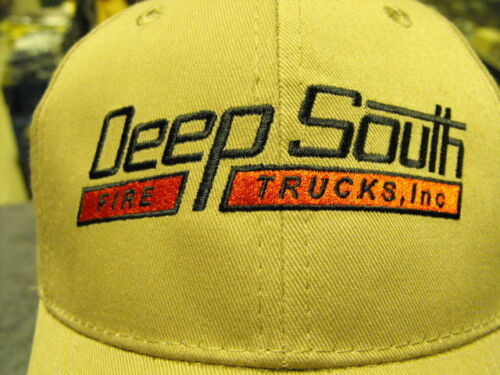Deep South Fire Trucks Inc Tan in Color New Baseball Cap