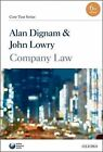 Company Law: Core Text by Alan Dignam, John Lowry (Paperback, 2010)