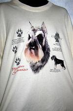 Miniature Schnauzer Theme T-Shirt Size Xxl Nwot Hey Dog Lovers!