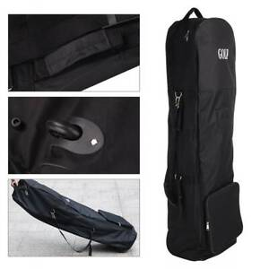 UK-Own-lightweight-Black-Padded-Golf-Bag-holiday-travel-cover-case-with-wheels
