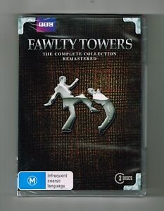 Fawlty-Towers-The-Complete-Collection-Remastered-Dvd-3-Disc-Set-New-amp-Sealed