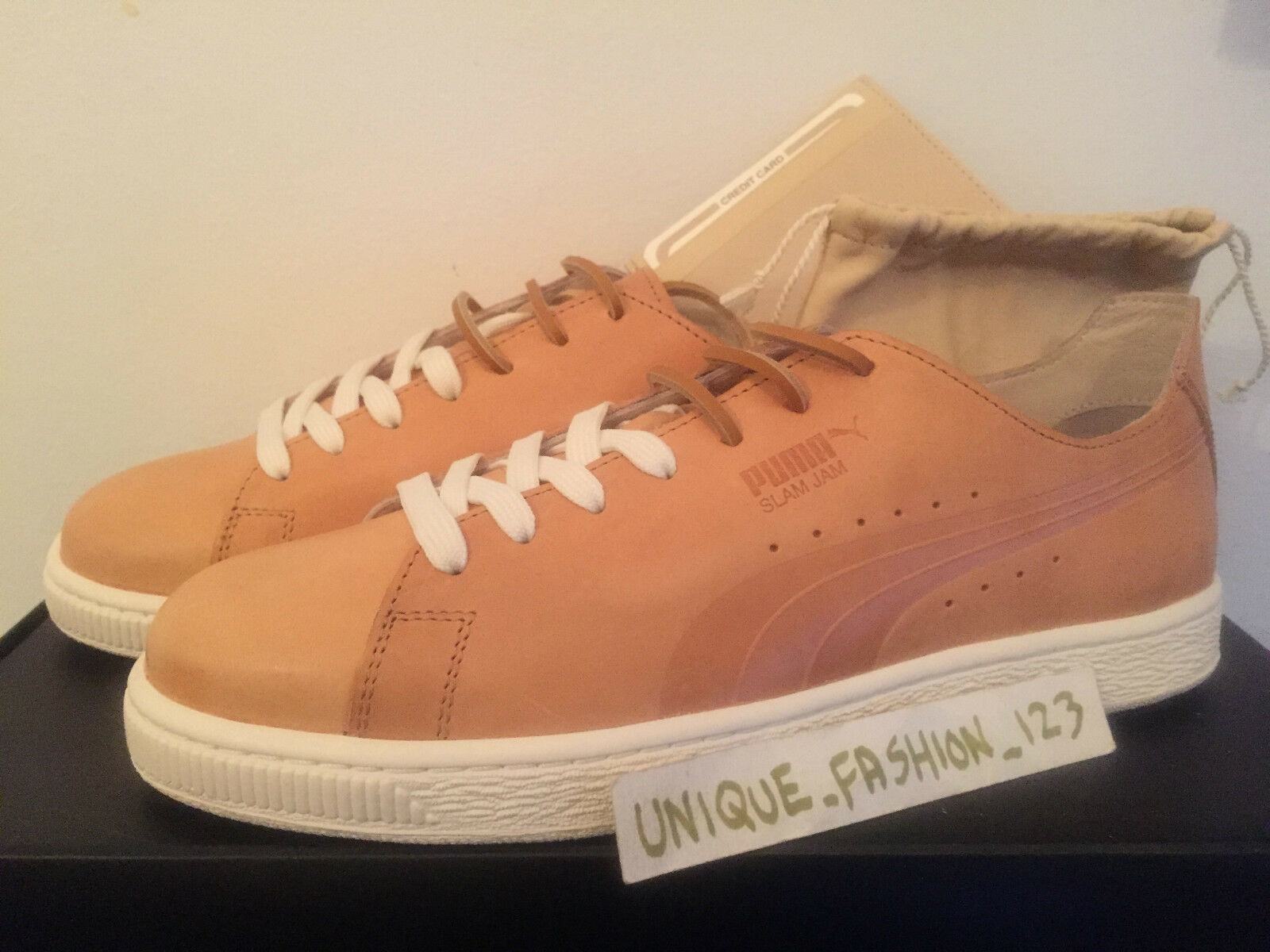 PUMA SOCIALISM STATES X SLAM JAM SOCIALISM PUMA XXV US 7 6 39 TAN LEATHER SECRET COLOUR COLOR 09052c
