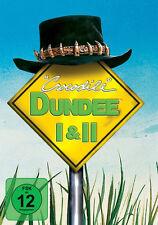 CROCODILE DUNDEE Teil 1 & 2  Linda Kozlowski PAUL HOGAN  2 DVD Box Neu