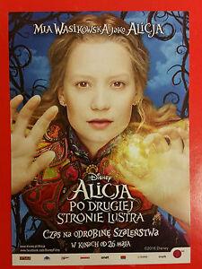 Johnny Depp Mia Wasikowska - Alice Through the Looking Glass -Polish promo FLYER - Gdynia, Polska - Johnny Depp Mia Wasikowska - Alice Through the Looking Glass -Polish promo FLYER - Gdynia, Polska