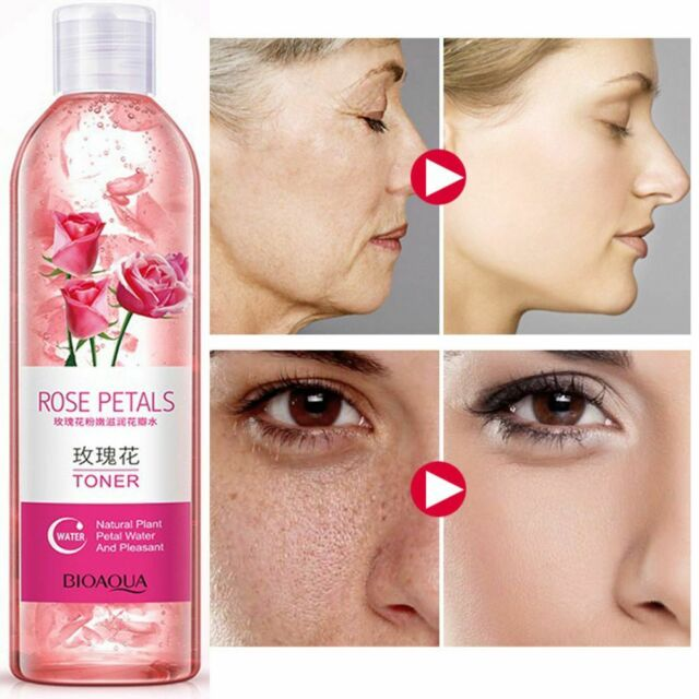BIOAOUA Rose petals Essence Water face Tonic Shrinks Cool Anti aging Whitening t
