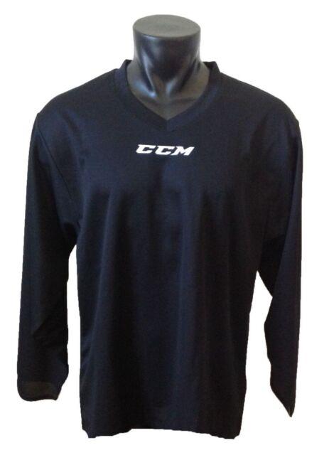 CCM Hockey Senior adult Black 5000 Practice Jersey L  824f85e0513