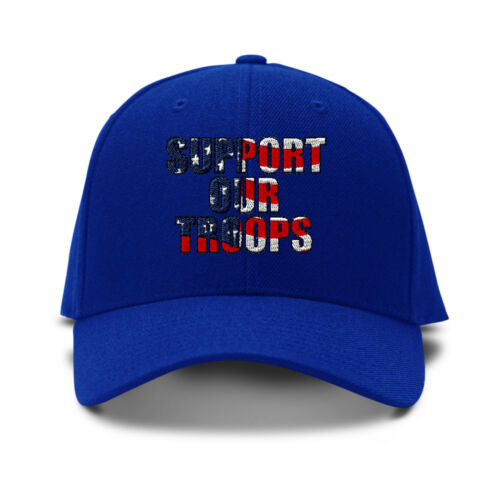 Support Our Troops American Flag Embroidered Adjustable Hat Baseball Cap