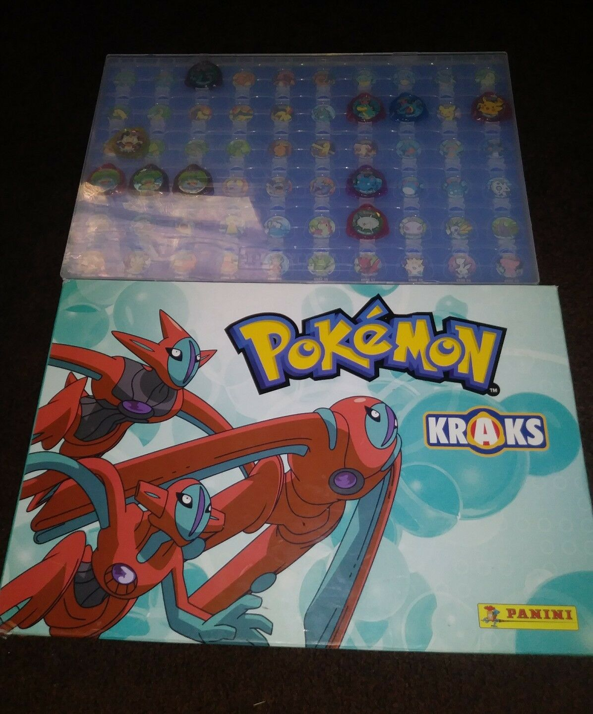 Pokemon Kraks Panini Board With X18 Kraks 2005 Picachu Rare Freeshipping