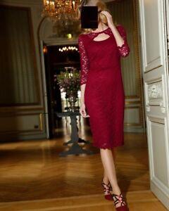 Bordeaux kleid jacke